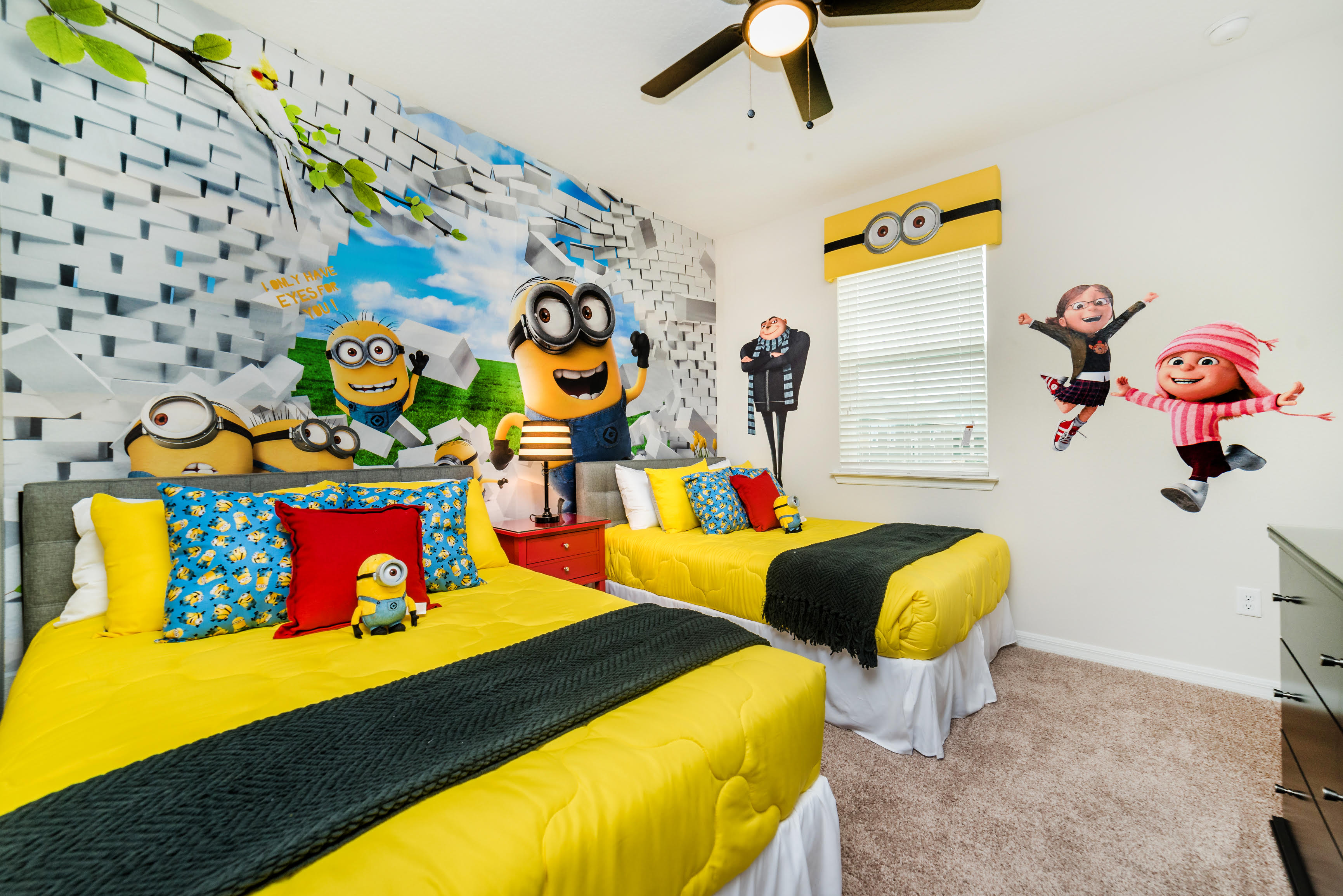 minions theme room furniture for vacation rentals bedroom themes children