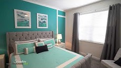 grey and turquoise furniture design